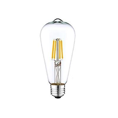 DC 12V Light Bulb ST64 LED Edison Filament E26 Screw Base Lamp DC Low Voltage RV Marine Boat Solar Theatrical Production Stage Prop Retro Landscape Industrial Lighting 12Volt