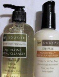 Trader Joe's Nourish All-In-One Facial Cleanser & Nourish Oil-Free Antioxidant Facial Moisturizer