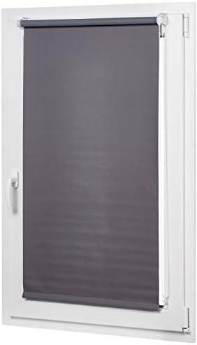 AmazonBasics – Tenda a rullo oscurante con rivestimento in colore coordinato, 66 x 150 cm, Grigio scuro