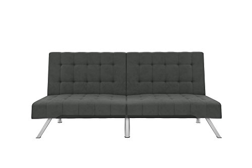 DHP Bed, Includes Sturdy Legs and Velvet Grey
