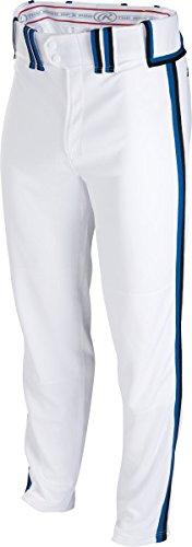 Rawlingsスポーツ用品Boys Youth semi-relaxed Pant with Braid B00LU9VRHA Small ホワイト/ブラック/ロイヤル ホワイト/ブラック/ロイヤル Small