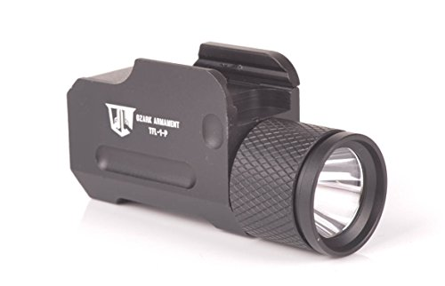 OZARK ARMAMENT 500 Lumen Tactical Pistol Light with Constant and Strobe Mode for Full Sized Pistols