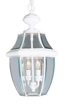 Livex Lighting 2255-03 Monterey 2-Light Outdoor Hanging Lantern, White ()