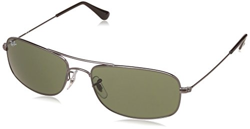 Ray-Ban UV Protected Oversized Men's Sunglasses – (0RB3335I00457|57|Crystal Green Color)