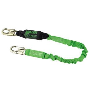 Miller Stretchstop 8798RSSO Green Shock-Absorbing Lanyard - 6 ft Length - 612230-16770 [PRICE is per EACH]