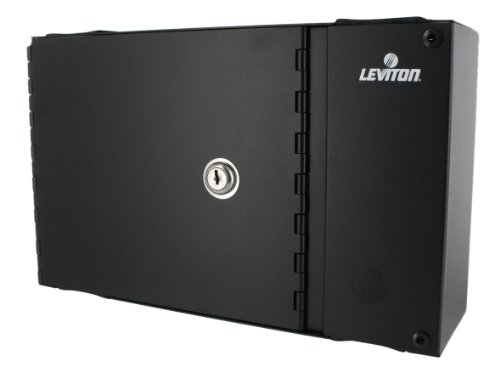 Leviton 5W120-N Small Wall Mount Enclosure, Empty with Split Metal Door and One Lock/Key by Leviton