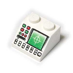 Price comparison product image LEGO block genuine parts slope> White 45 ‹ 2x2 radar disk slot pattern [parallel import goods]