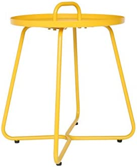 Christopher Knight Home 304945 Amy Outdoor Aluminum Side Table, Matte Yellow