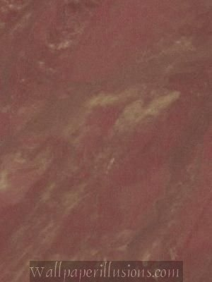 Paper Illusion Wallpaper 8 by 10-inch Sample, Red and Gold Travertine Marble