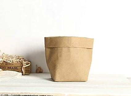 Amazon.com: Maceta de papel Kraft con cubierta para maceta ...
