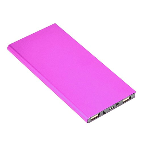 20000mAh Portable Cell Phone Pack Backup External Battery Power Bank Charger by CSSD (Hot Pink)