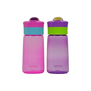 Contigo Kids 14oz Gracie Autoseal Water Bottles Petal & Amethyst