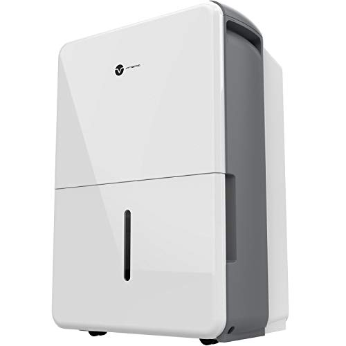 Vremi 30 Pint Energy Star Dehumidifier for Medium to Large Spaces and Basements-Quietly Removes Moisture to Prevent Mold and Mildew, 1,500 Sq. Ft, White