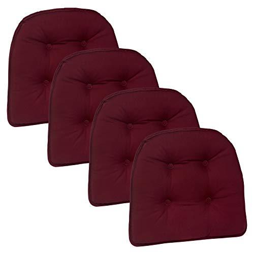 Klear Vu Twill Gripper Non-Slip Chairpad, Set of 4, Burgandy (Gripper The Chair Pad)