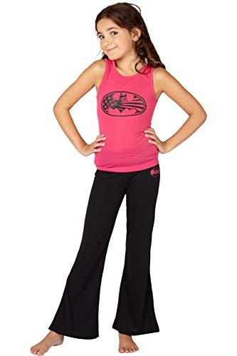 DC Comics 'Batman Batgirl Superhero Americana' Yoga Pajama Set, Pink, -