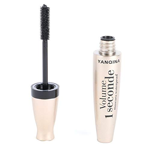 Women's Black Eye Mascara Long Eyelash Silicone Brush Curving Lengthening Mascara Waterproof Makeup Black