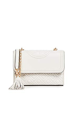 (Tory Burch Women's Fleming Small Convertible Shoulder Bag, Birch, Off White, White, One Size)
