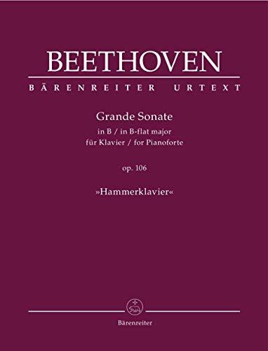 Grande sonate in b flat major, op. 106 : for pianoforte (hammerklavier)