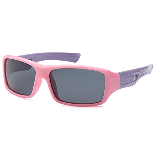 TRUST OPTICS Soft Flexible Sporty Style Kids Polarized Wrap Sunglasses Shades for Baby and Children Age 3-10 (Pink Sports - Boys Sunglasses Stylish For