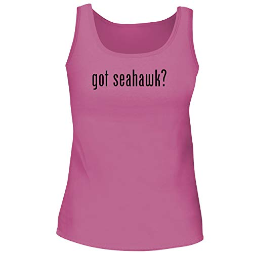BH Cool Designs got Seahawk? - Cute Women's Graphic Tank Top, Pink, Medium