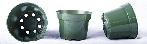 - 30 NEW 4 Inch Dillen Plastic Nursery Pots - Azalea Style ~ Pots ARE 4 Inch Round At the Top and 2.8 Inch Deep. Color: Green
