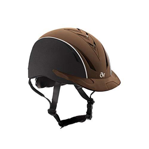 Ovation Unisex Sync Riding Helmet, Black/Brown, Medium/Large