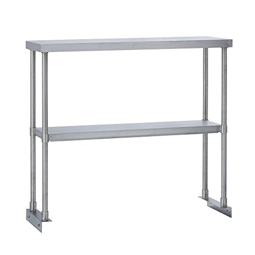 Fenix Sol Commercial Kitchen Stainless Steel Double Overshelf for Work Tables, 12'' W x 24''L x 31''H, NSF Certified by Fenix Sol (Image #1)
