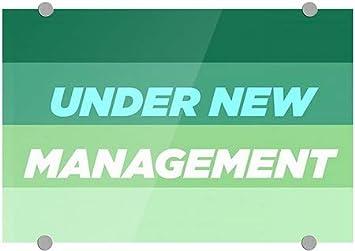 18x12 5-Pack CGSignLab Modern Gradient Premium Brushed Aluminum Sign Under New Management