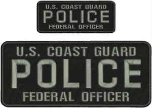 - U.S. Coast Guard Police Federal Officer Embroidery Patch 4X10 & 2X5 Hook ON Back by HighQ Store