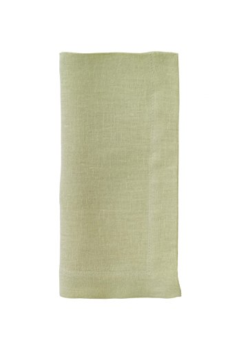 Bodrum Riviera Willow (Light Green) Linen Napkins (Set of 6) 22'' x 22'' (55.9cm x 55.9cm) by Bodrum