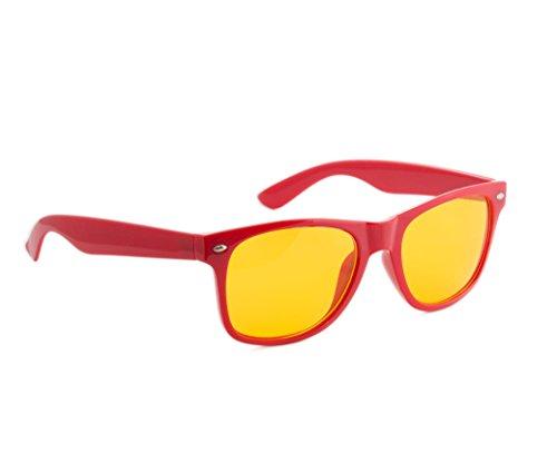 füllend marron uV400 de unisexe écaille entièrement lunettes jaune soleil Red driving protection lentilles lunettes 4sold Correction Night femmes soleil de nuit hommes q7z76O