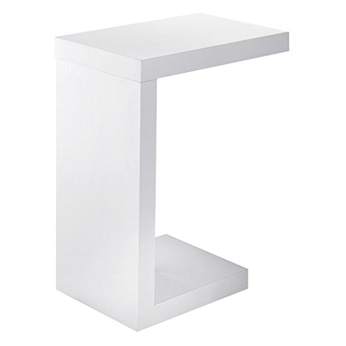 Monarch Specialties White Hollow-Core Accent Table