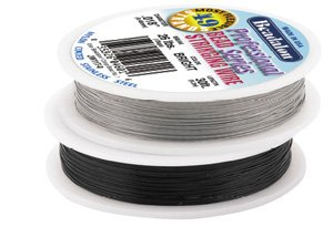 Strand 30' Spool - BEAD WIRE 49 STRAND BLACK 0.46mm/0.018