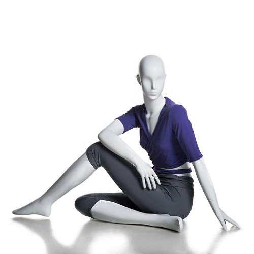 (MC-YOGA09) ROXYDISPLAY™ High end Quality. Female Yoga Position of Sitting, Full Body, Abstract Head, NO Base by ROXYDISPLAY™ (Image #6)