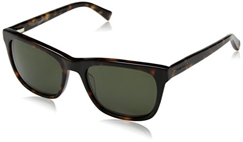 Cole Haan Men's Ch6009 Plastic Square Sunglasses, Dark Tortoise, 55 - Sunglass Case Haan Cole