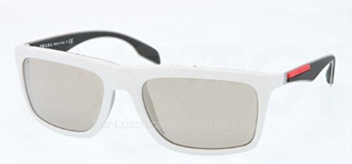 Prada Linea Rossa Men's 0PS 02PS White/Light Brown - Prada Men 2014 Sunglasses