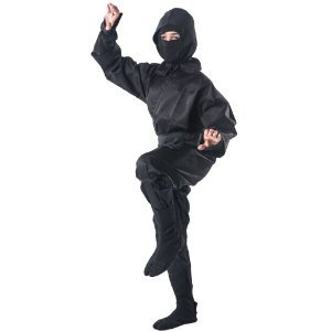 Tiger Ninja Costume - Black Ninja Uniform - Tiger Claw Ninja Suit Size XS