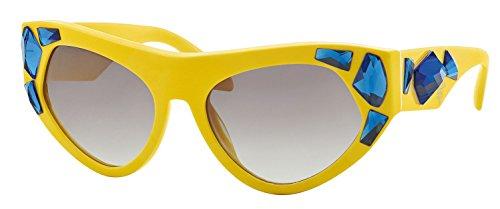 Prada PR21QS Sunglass-TFA/0A7 Yellow (Gray Gradient ()