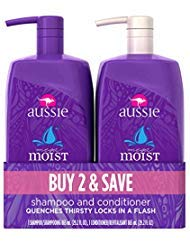 Aussie Mega Moist Shampoo and Conditioner Dual Pack  luxurio