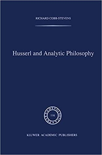 Husserl and Analytic Philosophy (Phaenomenologica)