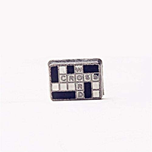 Pendant Jewelry Making Crossword Puzzle Enamel Silver 10mm Floating Charm for Memory Lockets 1pc