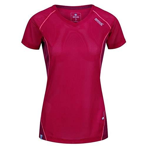 Regatta Womens/Ladies Volito III Ultra Lightweight T-Shirt (6 US) (Dark Cerise/Beetroot)