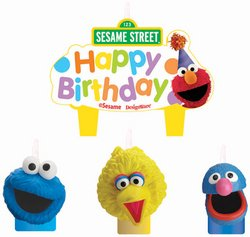 Amscan - Sesame Street Party Molded Cake Candles (Sesame Street Candles)