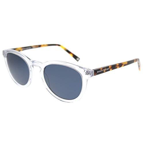(Banana Republic Johnny 900 KU Crystal Plastic Round Sunglasses Blue)