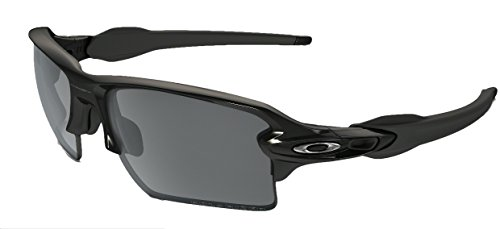 Oakley Flak Jacket 2.0 XL Sunglasses (Shiny Black Frame Polarized Black Lens, Shiny Black Frame Polarized Black - Flak Oakley Jacket Sunglasses Polarized