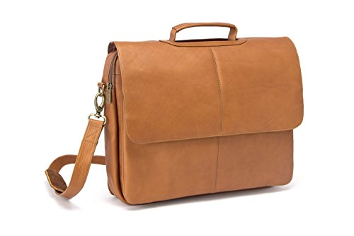 Le Donne Leather Laptop Briefcase, Café by Le Donne Leather