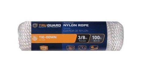 MIBRO Group (The) 642271 White Twisted Nylon TG 3/8x100 WHT NYL Rope ()