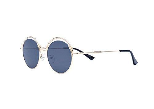 Tou che Prince Colorful metal sunglasses (Gold frame Black lens, - Sunglasses Prince 3 Lens