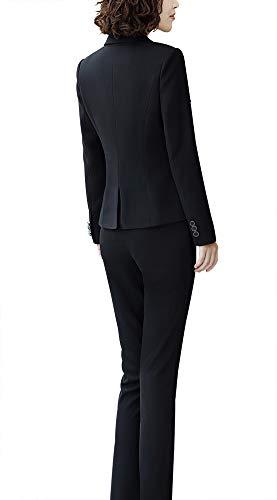 Susielady Traje De Chaqueta Negro Para Mujer qzqHOR1rw