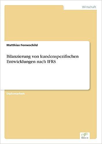 Book Bilanzierung von kundenspezifischen Entwicklungen nach IFRS